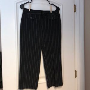 Cropped striped black classic pants 4